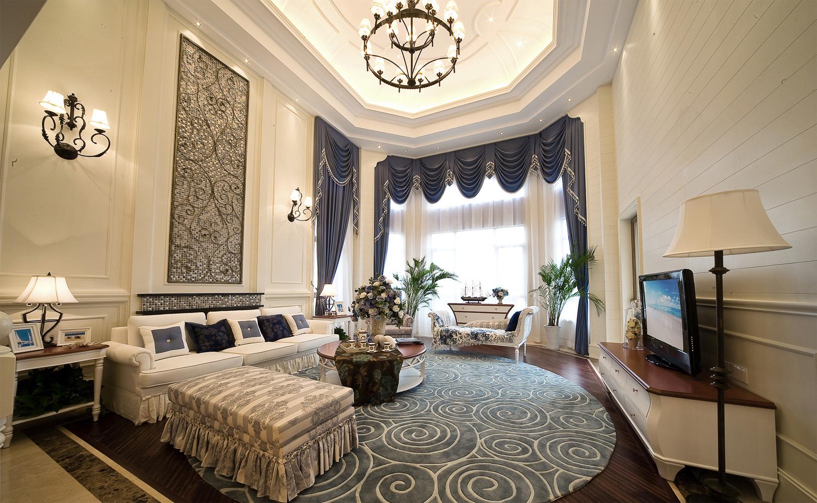 别墅 白领 收纳 80后 小资 地中海 客厅图片来自一道伍禾装饰设计师杨洋在地中海之泰禾·北京院子别墅装修的分享