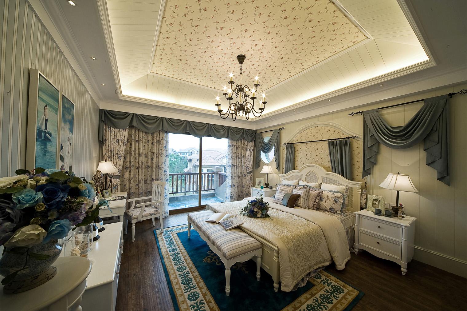 别墅 白领 收纳 80后 小资 地中海 卧室图片来自一道伍禾装饰设计师杨洋在地中海之泰禾·北京院子别墅装修的分享