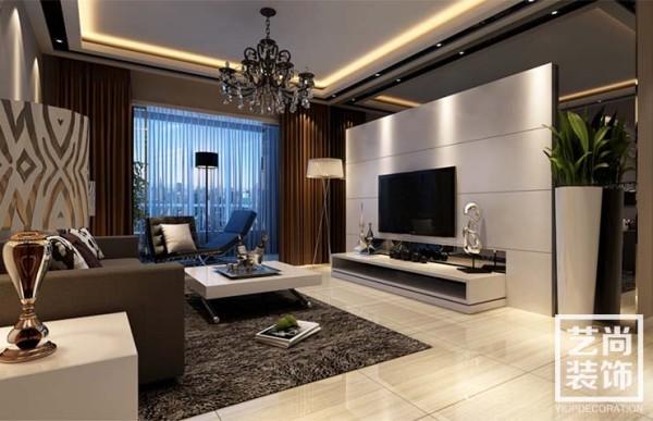 翰林国际城141平方三室两厅装修效果图