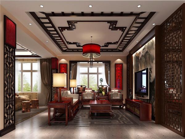 """中式风格的室内设计,是在室内布置、线形、色调及家具、陈设的造型等方面,吸取传统装饰""""形""""、""""神""""的特征。"""