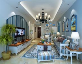 三居 地中海 温馨 客厅图片来自创新思维装饰官方博客在时代睿城的分享