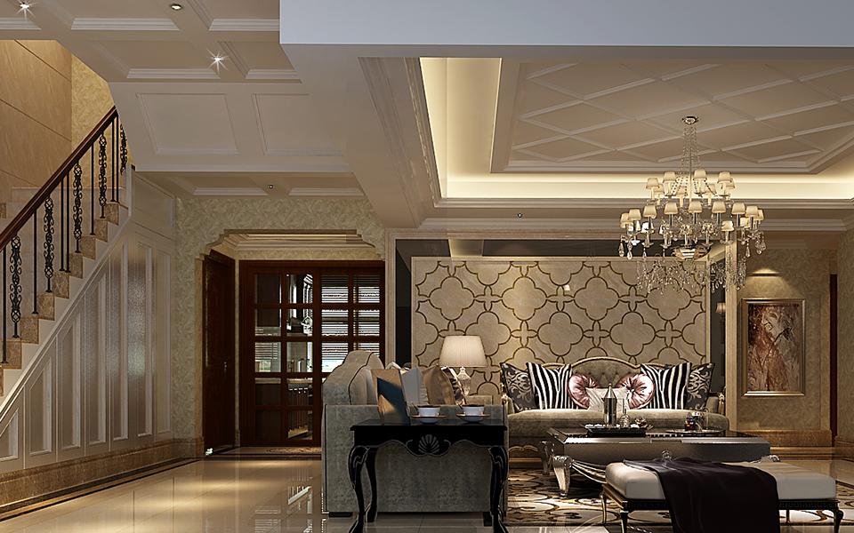 客厅图片来自湖南点石家装在蔚蓝海岸新古典案例赏析的分享