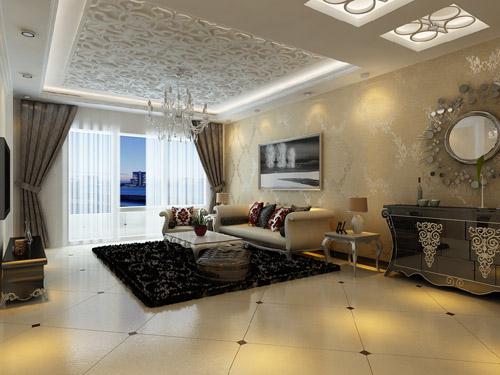 三居 纳帕名门 简欧风格 客厅图片来自百家设计小刘在纳帕名门122平简欧风格的分享