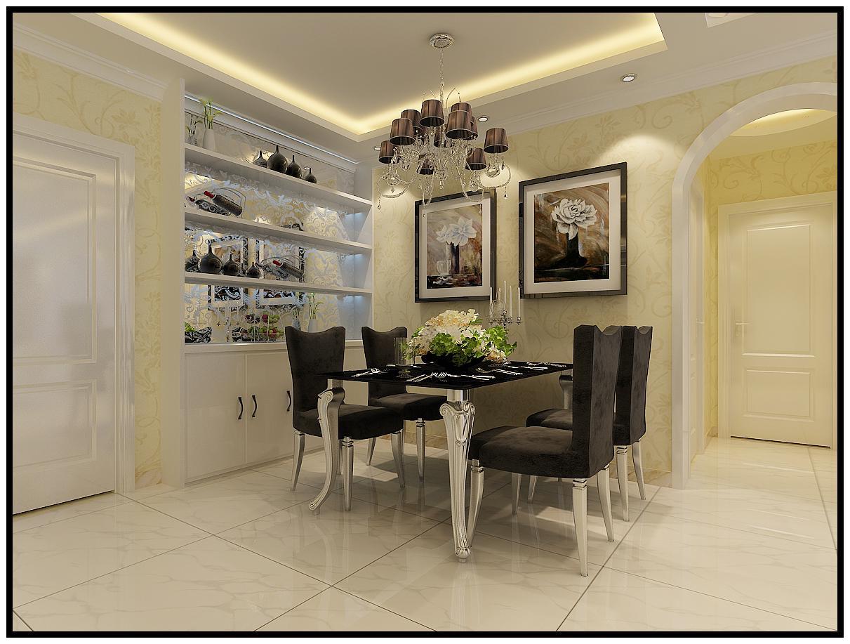 欧式 太原装修 太原乐豪斯 太原装修公 富力华庭 餐厅图片来自杨乾在富力华庭95平米简欧风格装修的分享