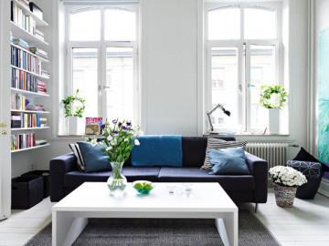 蓝白清新公寓