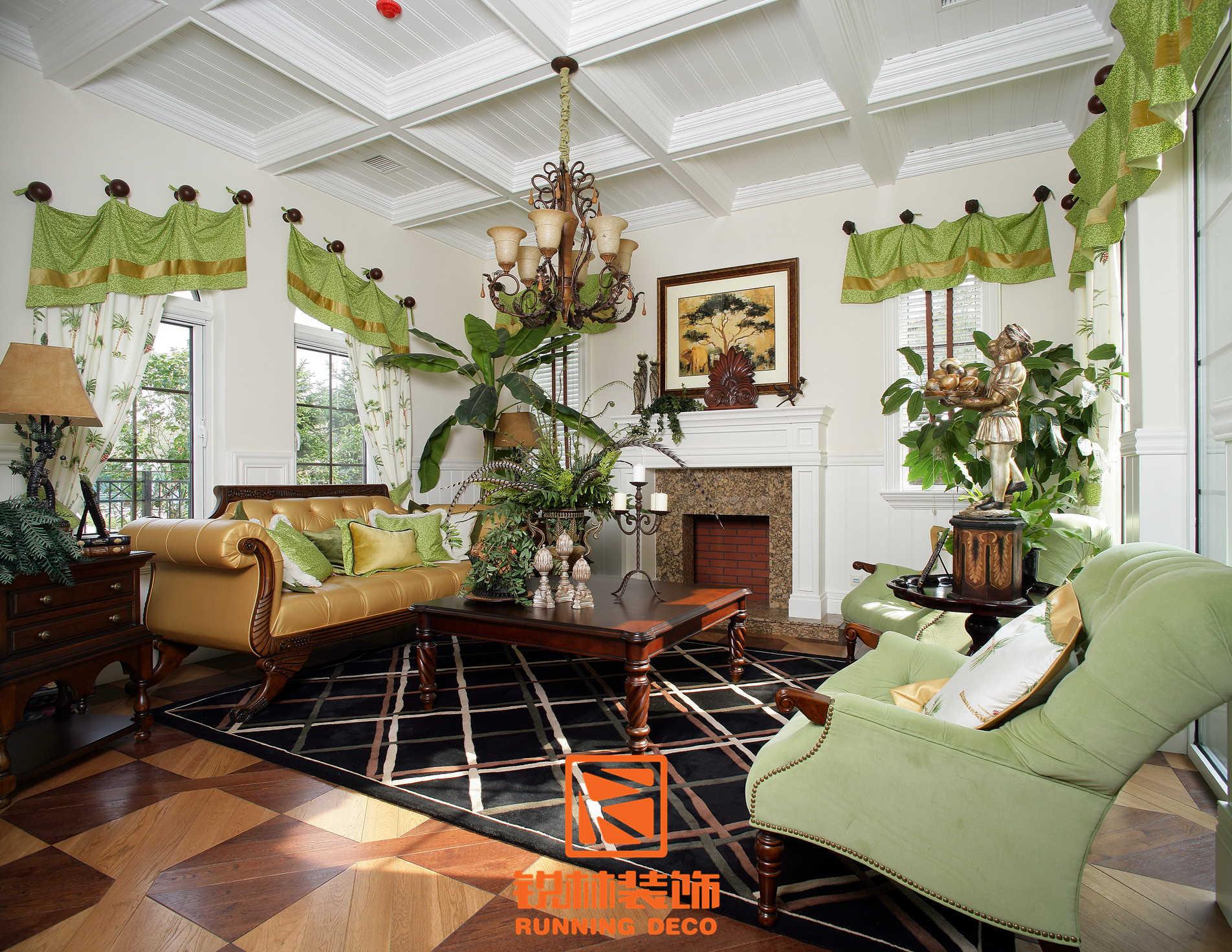 欧式 简约 田园 混搭 二居 三居 别墅 白领 收纳 客厅图片来自天津别墅设计装修在美式乡村风格的分享