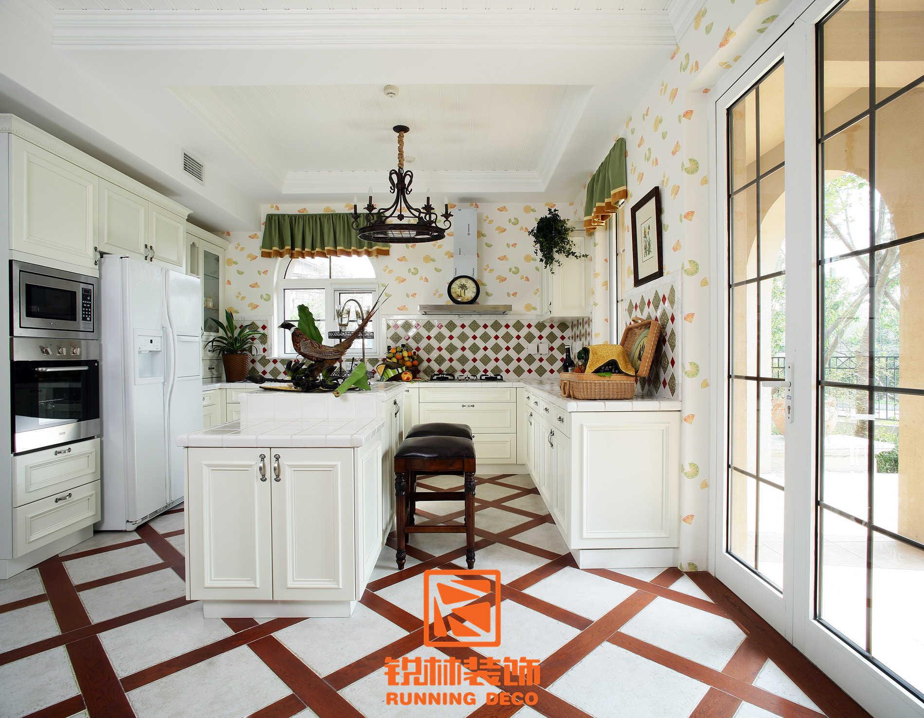 欧式 简约 田园 混搭 二居 三居 别墅 白领 收纳 厨房图片来自天津别墅设计装修在美式乡村风格的分享