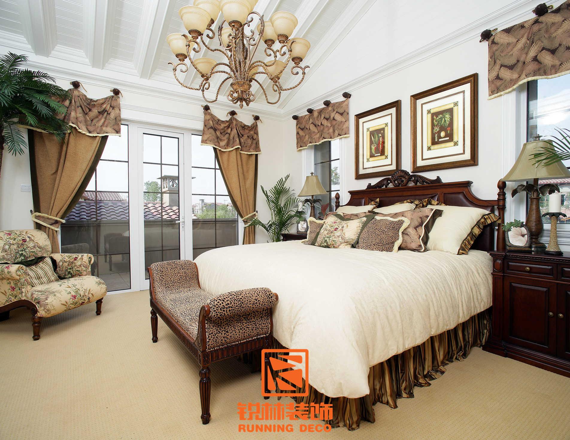 欧式 简约 田园 混搭 二居 三居 别墅 白领 收纳 卧室图片来自天津别墅设计装修在美式乡村风格的分享