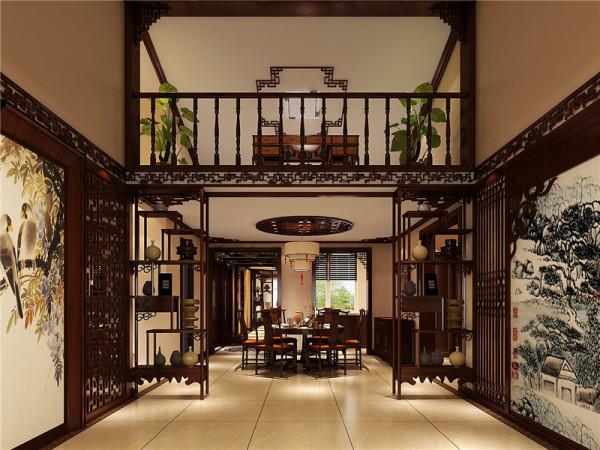 餐厅装修一般的色彩配搭都是随着客厅的,体现在传统家具装饰品及黑,红为主的装饰色彩上。