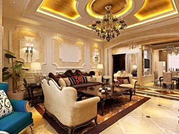 11万装星光耀168平奢华欧式三居