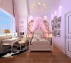 威尼斯花园别墅-280平户型公主房效果图
