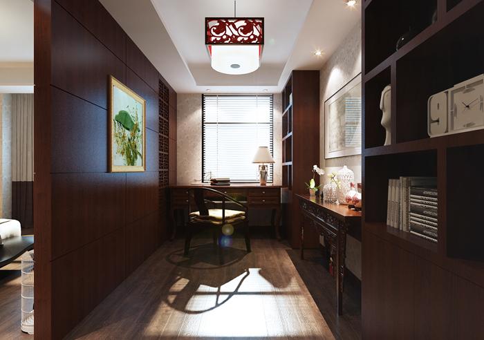 混搭 别墅 白领 收纳 旧房改造 80后 小资 联排 中式 书房图片来自轻舟装饰家居顾问在中式风的高贵与现代典雅的碰撞的分享