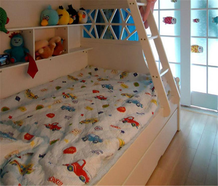 地中海 三居 80后 小资 儿童房图片来自成都创新思维装饰工程有限公司在86平米套三地中海风格的分享
