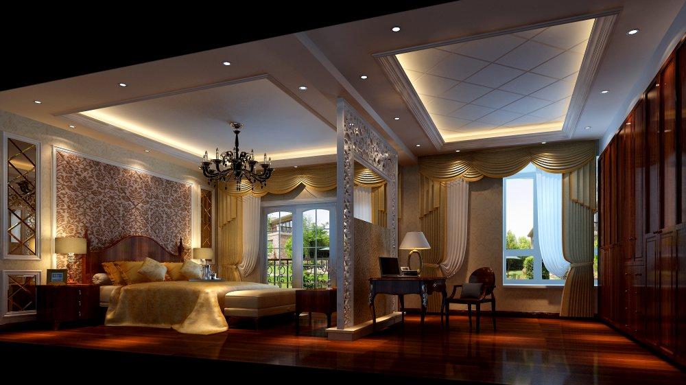 卧室图片来自宏誉装饰-Paul在欧式跃层装修案例的分享