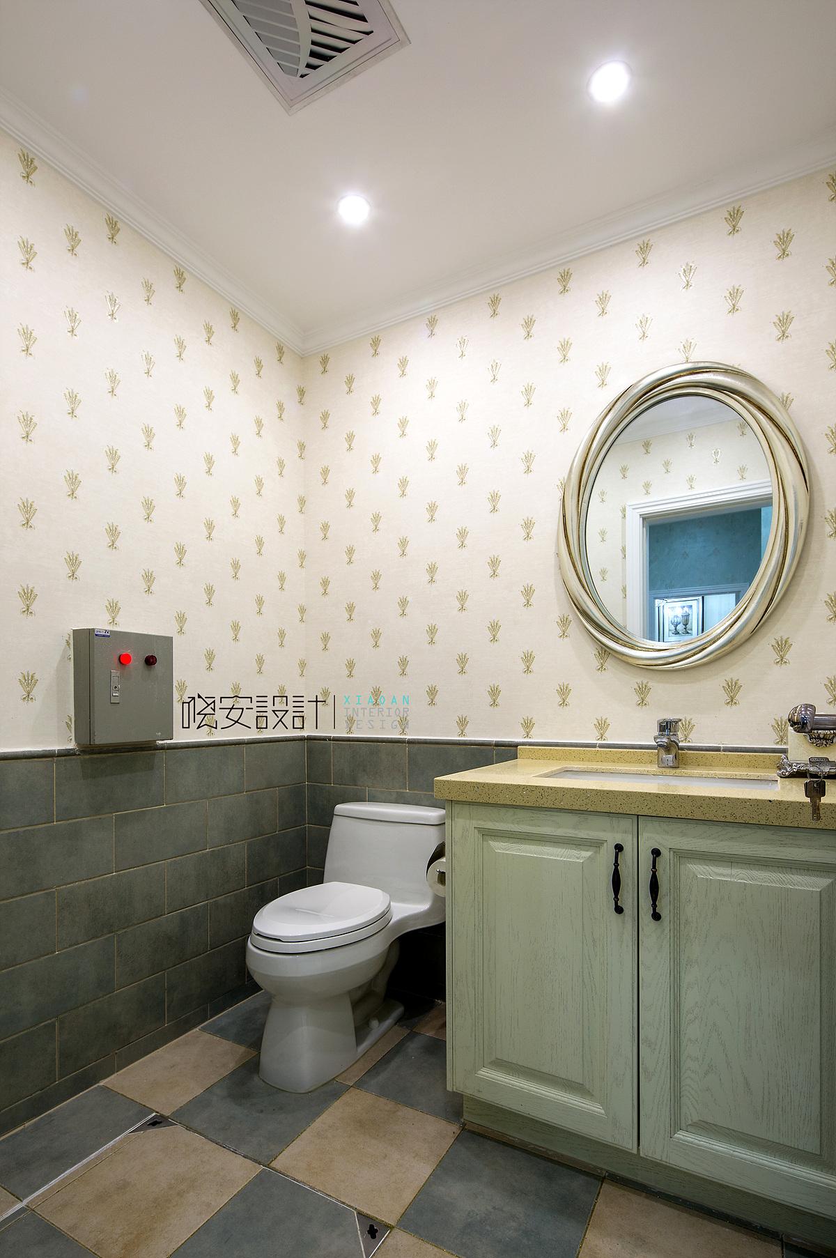 混搭 别墅 收纳 小资 卫生间图片来自周晓安在中信森林湖的分享