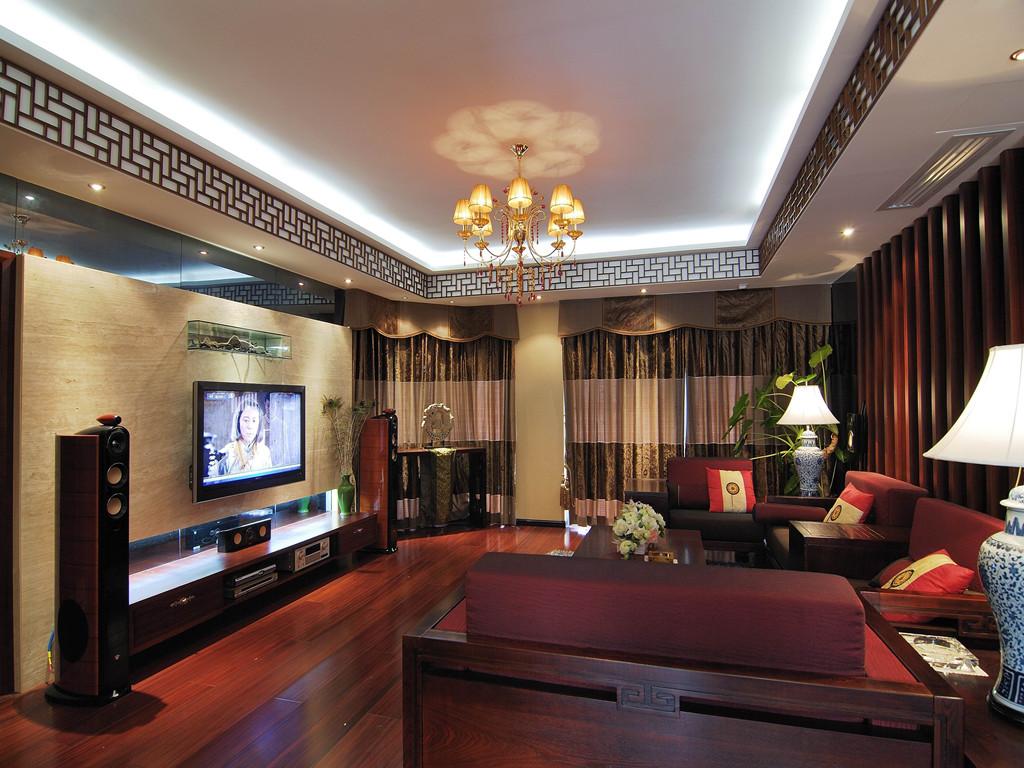 新中式 三居 客厅图片来自成都创新思维装饰工程有限公司在97平米新中式的分享