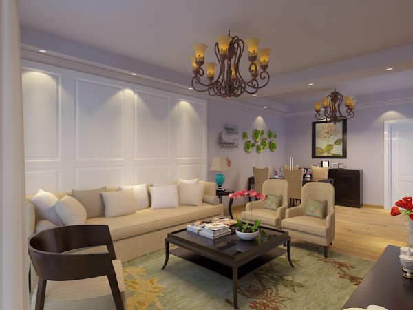 结合客户自身的需求与习惯,为了给业主创造一个简约、时尚、舒适的环境。