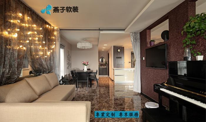 装修设计 专业定制 室内设计 客厅图片来自燕子软装在紫金联合立方的分享
