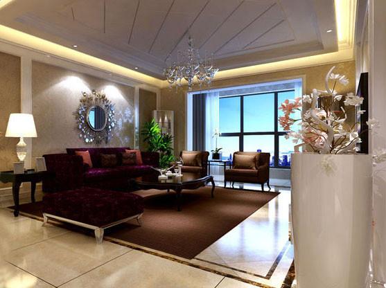 正商书香华府 138平三居室装修 混搭风格设计案例 效果图