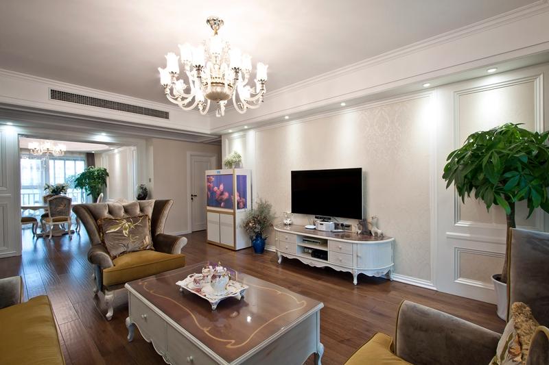 简雅 五居室 百瑞景 简美风 宁静 客厅图片来自武汉嘉年华装饰在宁静幽居•简雅生活的分享