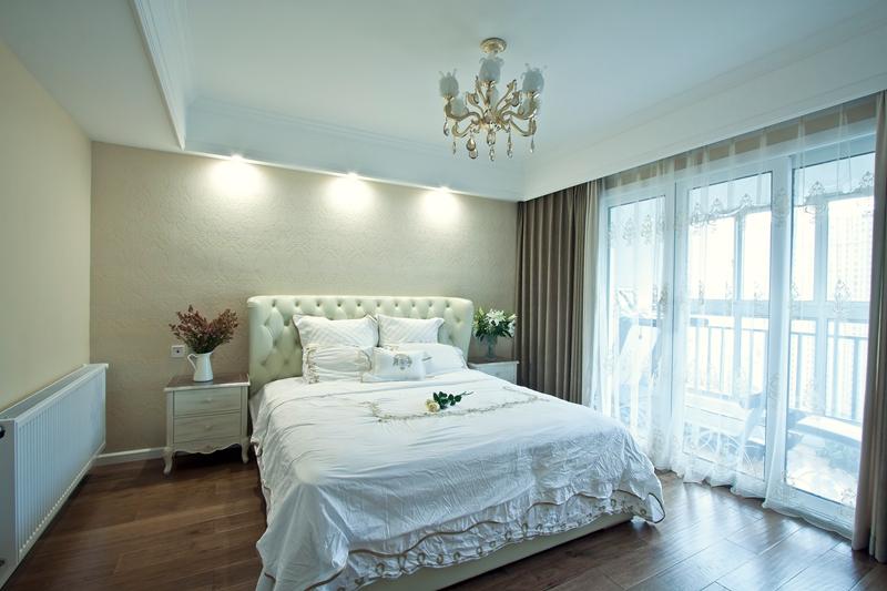 简雅 五居室 百瑞景 简美风 宁静 卧室图片来自武汉嘉年华装饰在宁静幽居•简雅生活的分享