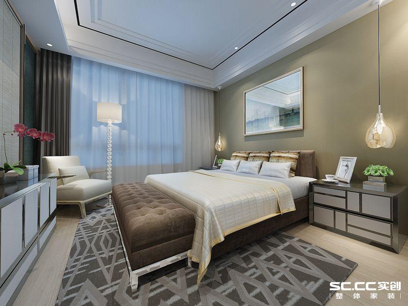 港式风格 三居 怡祥居 卧室图片来自实创装饰上海公司在怡祥居140平简洁明朗的港式三居的分享