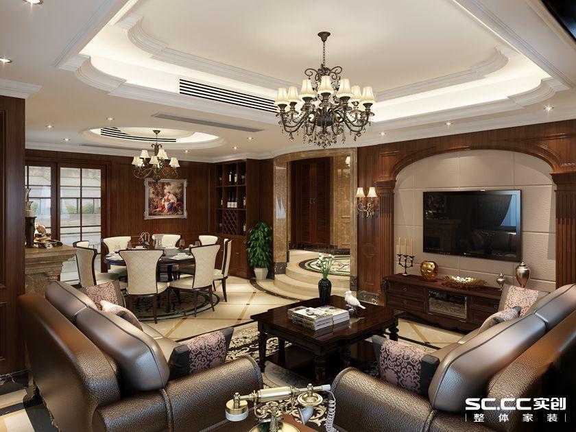 160平米复 复式报价 上海装修 实创装饰 客厅图片来自上海实创-装修设计效果图在上海160平米复式古典风格的分享