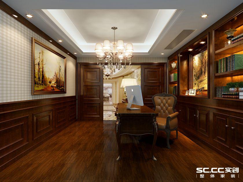 160平米复 复式报价 上海装修 实创装饰 书房图片来自上海实创-装修设计效果图在上海160平米复式古典风格的分享