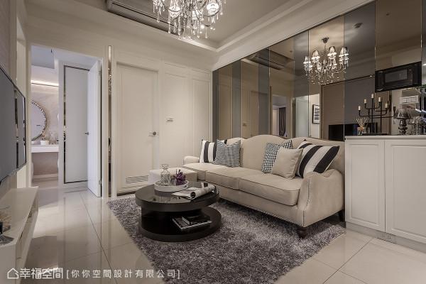 你你空间设计营造崭新的空间样貌,以精湛的工艺与设计美感,将新古典元素与现代时尚完美融合。