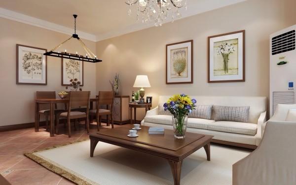 昌建誉峰 120平三居室 美式风格装修 设计案例 实景图