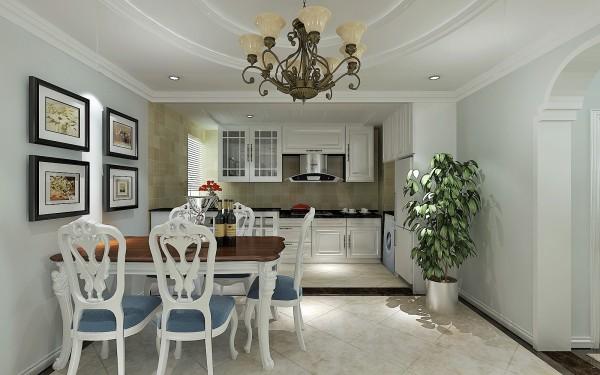 中林国际 136平三居室 现代美式风格装修 设计案例实景图