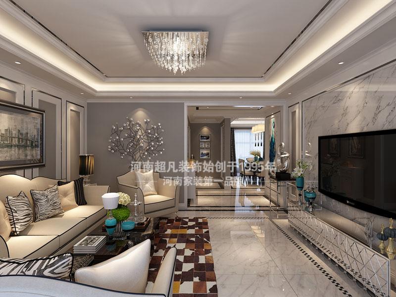 银基王朝 客厅效果图 现代风格 客厅图片来自郑州最好的装修公司-河南超凡在银基王朝现代奢华风格效果图的分享
