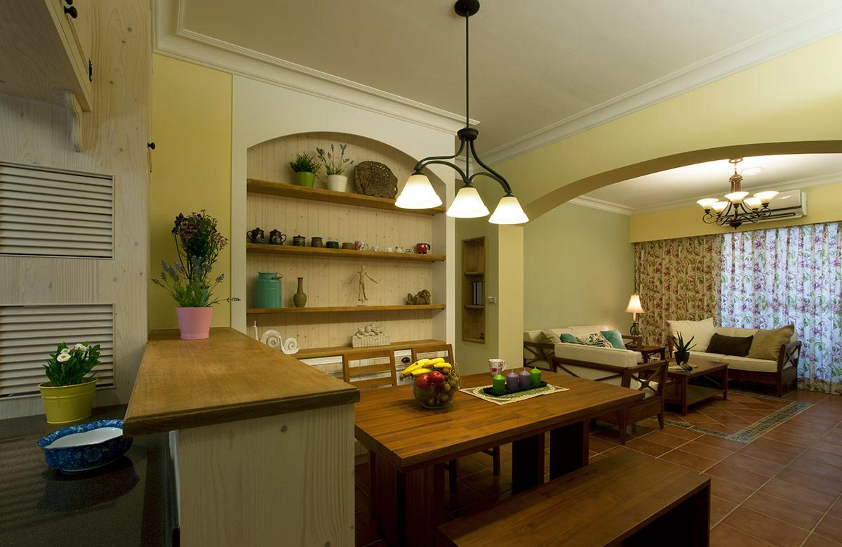 美式 田园 80后 餐厅图片来自成都丰立装饰工程公司在淡绿的美式清新的分享