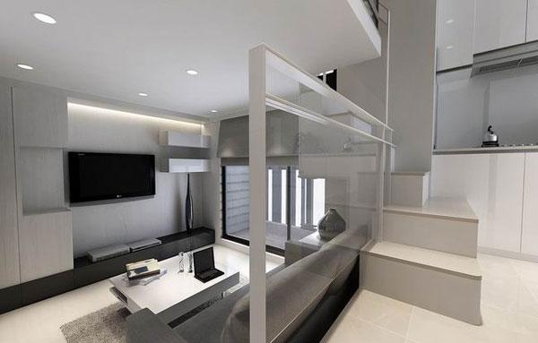 简约 80后 客厅图片来自成都丰立装饰工程公司在极简主义 黑白灰的分享