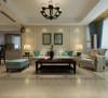 泰丰观湖三室两厅美式装修效果图