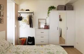 一居 北欧 简约 宜家 旧房改造 80后 客厅 卧室 餐厅 卧室图片来自实创装饰晶晶在50㎡的公寓让女神装成了这样的分享