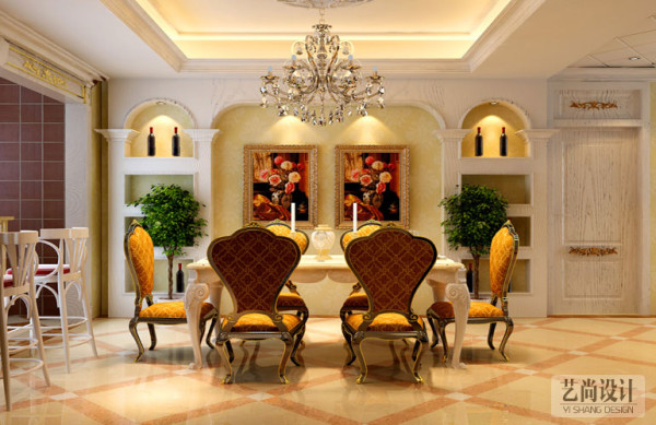 郑州升龙又一城3室2厅现代简约装修案例-餐厅装修效果图