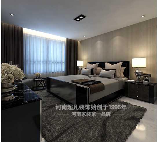 简约 四居室 裕鸿世界港 现代简约 白领 卧室图片来自郑州最好的装修公司-河南超凡在裕鸿世界港160平现代风格效果图的分享