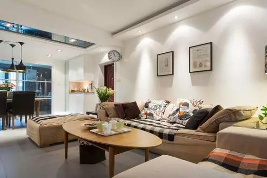 简约 二居 客厅图片来自实创装饰上海公司在90㎡简约两居,简直美过样板间!的分享