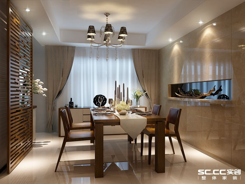 简约 港式 三居 白领 餐厅图片来自实创装饰上海公司在盛世宝邸140平港式简约风格的分享