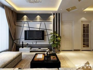 开祥御龙城85平两居室简约设计