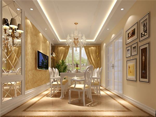 古典欧式风格的特征是强调线形流动的变化,将室内雕刻工艺集中在装饰和陈设艺术上,色彩华丽且用暖色调加以协调。