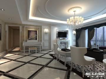 140平欧式三居海悦花园装修设计