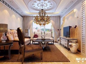 有色金属院欧式风格三居设计