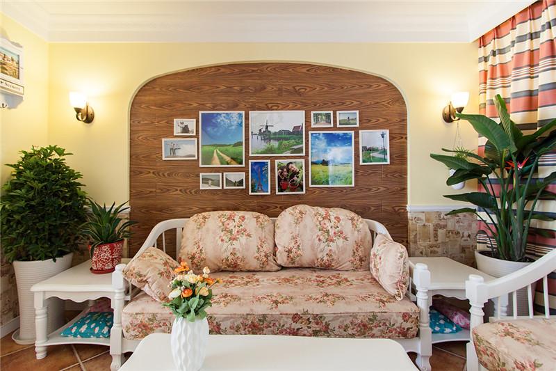 80后 小资 收纳 白领 三居 田园 乡村 客厅图片来自澳华装饰有限公司在复地东湖国际--乡村田园共白头的分享