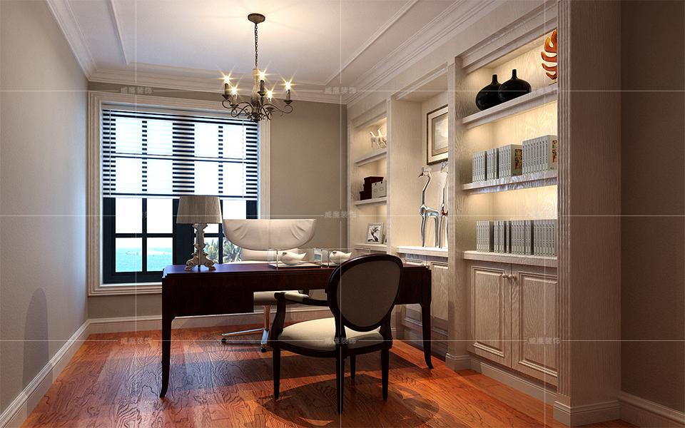 青岛装修 欧式 装修公司 书房图片来自青岛威廉装饰在星雨华府欧式风格设计的分享