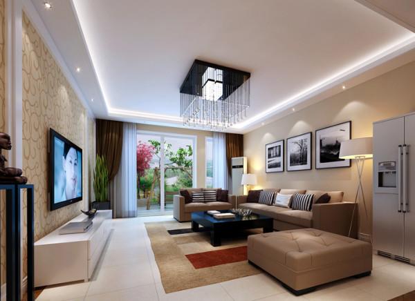 现代式时尚客厅设计理念:温馨的色彩搭配,简洁大方的沙发及灯饰的结合,给人一种,简洁、舒适、自然的心里感受。