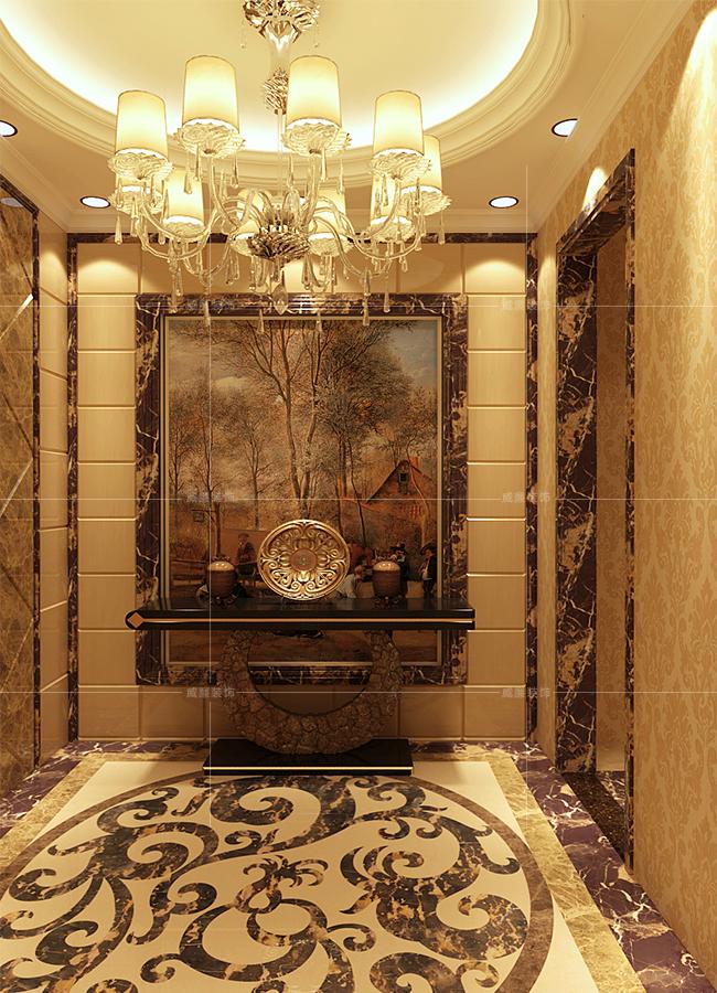 青岛装修 新古典 装修公司 玄关图片来自青岛威廉装饰在诺沙湾新古典风格设计的分享