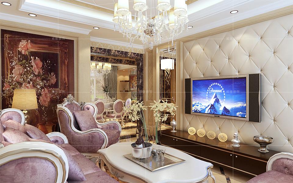 青岛装修 新古典 装修公司 客厅图片来自青岛威廉装饰在诺沙湾新古典风格设计的分享