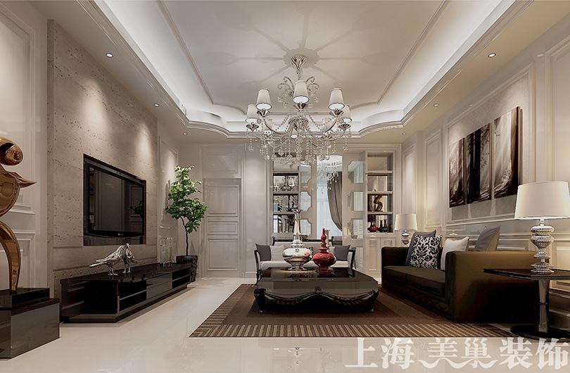 欧式 80后 小资 客厅图片来自美巢装饰--李凌晨在意墅蓝山200平欧式风装修效果图的分享